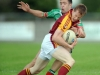 7/8/2010 Donal Vaughan, Ballinrobe  in action against Patrick Harte, Ballina Stephenites in the Mayo senior club football championship at Flanagan Park, Ballinrobe. Picture Ray Ryan
