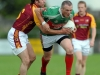7/8/2010 Eanna Casey, Ballina Stephenites in action against Sean Grimes, Ballinrobe in the Mayo senior club football championship at Flanagan Park, Ballinrobe. Picture Ray Ryan